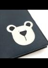 ESKA Egészségügyi kiskönyv borító - Sötétkék/törtfehér maci (12 x 17 cm)