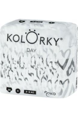 Kolorky Day környezetbarát eldobható pelenka - Szívecskék (S)