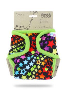 Petit Lulu egyméretes mosható pelenka külső - Rainbow stars (4-15 kg)