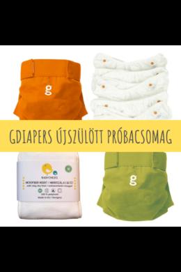 Újszülött mosható pelenka próbacsomag - gDiapers (3-6 kg)