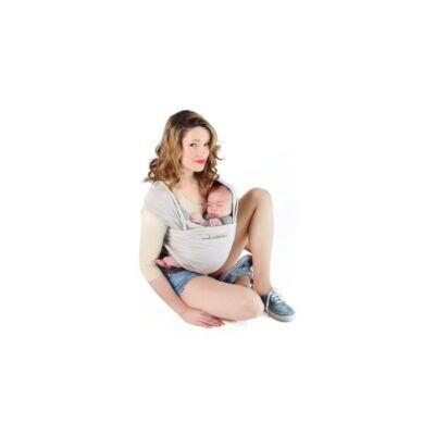 Love Radius (Je Porte Mon Bebe) Basic rugalmas hordozókendő - Gyöngyház szürke