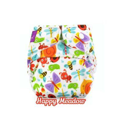 Milovia újszülött méretű mosható pelenka külső - Happy Meadow