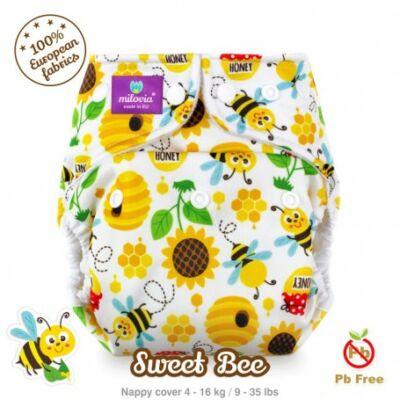 Milovia egyméretes mosható pelenka külső - Sweet bee