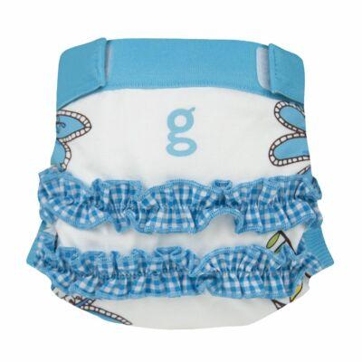 gDiapers limitált mosható pelenka külső - Girly Twirly Blue