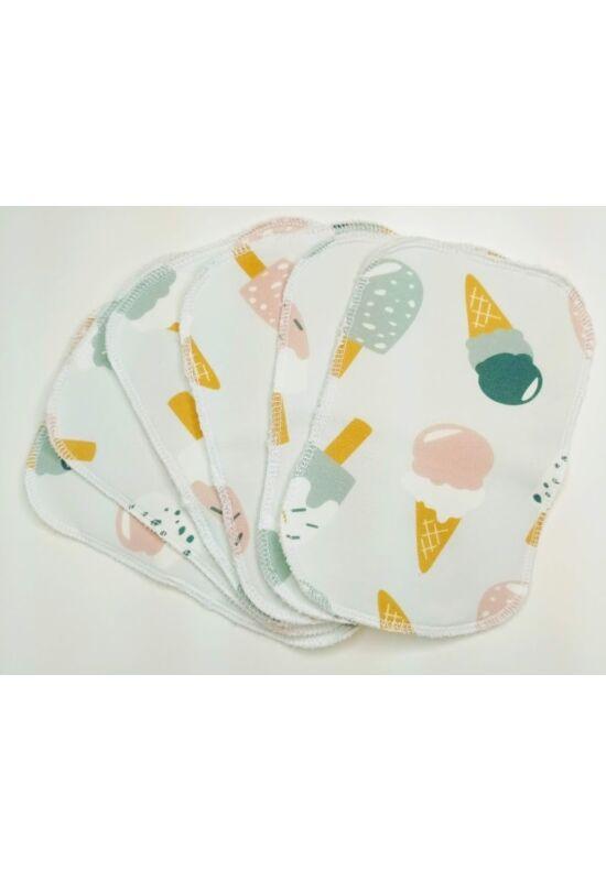 BabyChicks bambuszos mosható törlőkendő - 6 db-os csomag (csupa fagyi)