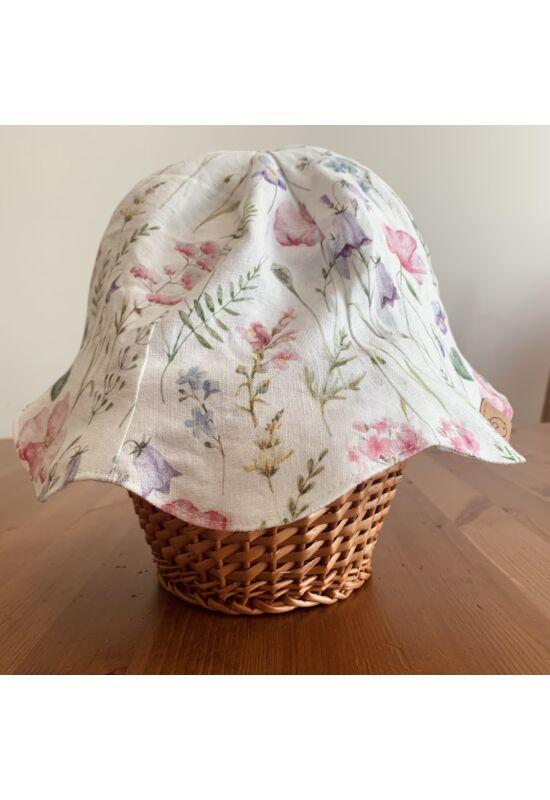 Babychicks Harangvirág kifordítható len napsapka - Virágok