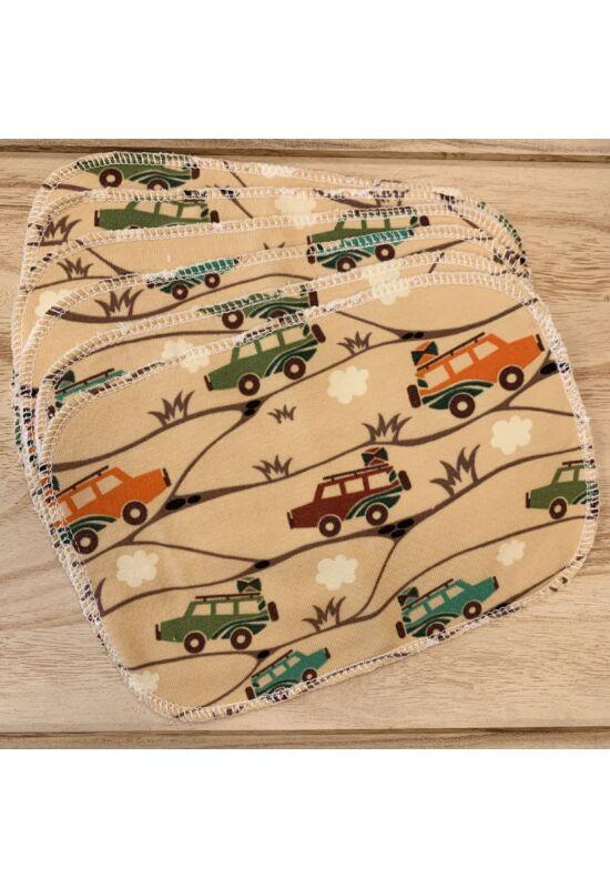 BabyChicks bambuszos mosható törlőkendő - 6 db-os csomag (terepen)