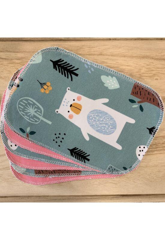 BabyChicks bambuszos mosható törlőkendő - 6 db-os csomag (erdei állatok)