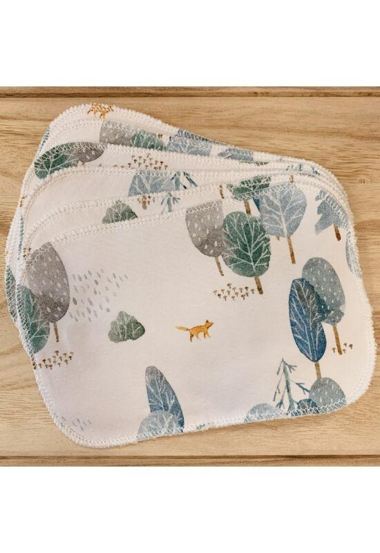 BabyChicks bambuszos mosható törlőkendő - 6 db-os csomag (erdő)
