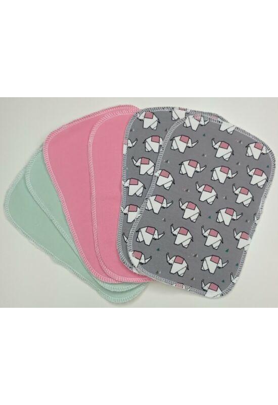 BabyChicks bambuszos mosható törlőkendő - 6 db-os csomag (szürke elefánt)