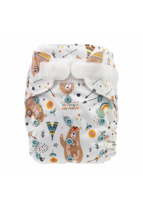 Blümchen újszülött mosható pelenka külső - Medve mama