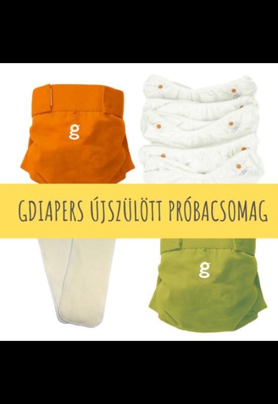 gDiapers mosható pelenka újszülött próbacsomag (3-6 kg)