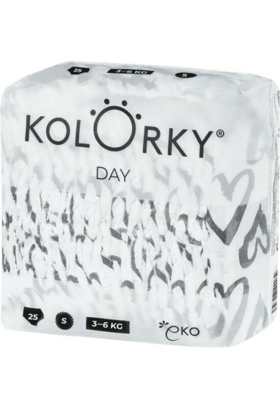Kolorky Day környezetbarát eldobható pelenka - Szívecskék (M)