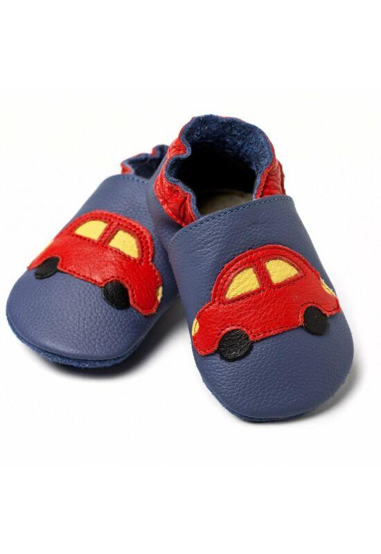 Liliputi® Puhatalpú Cipő - Kék kisautó