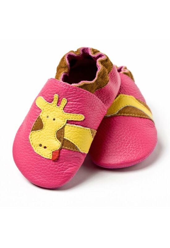 Liliputi® Puhatalpú Cipő - Rózsaszín zsiráfos