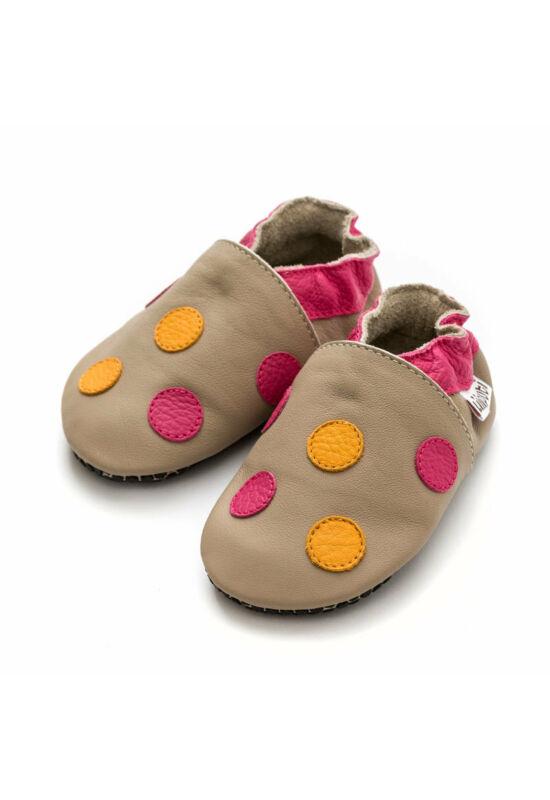 Liliputi® Tappancsos Cipő - pöttyös panna pink