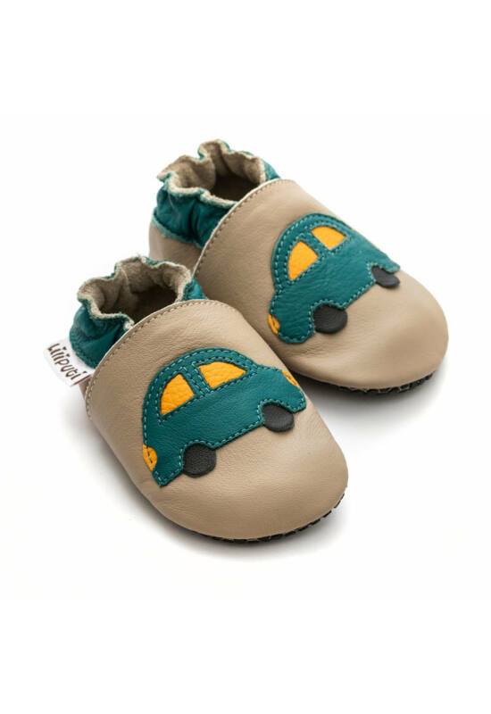 Liliputi® Tappancsos Cipő - zöld kisautós