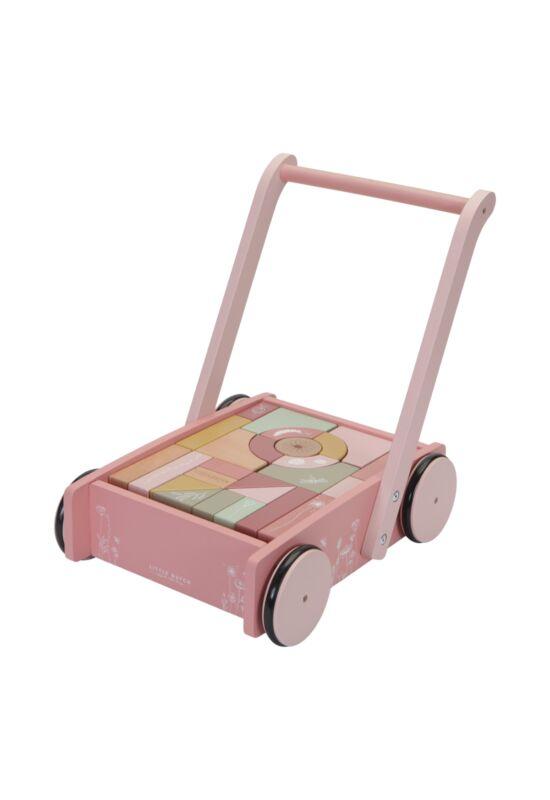 Little Dutch járássegítő kocsi - pink