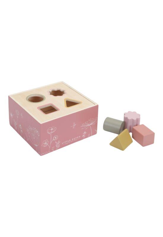 Little Dutch formabedobó kocka - pink