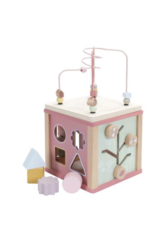 Little Dutch készségfejlesztő fa kocka játék - pink