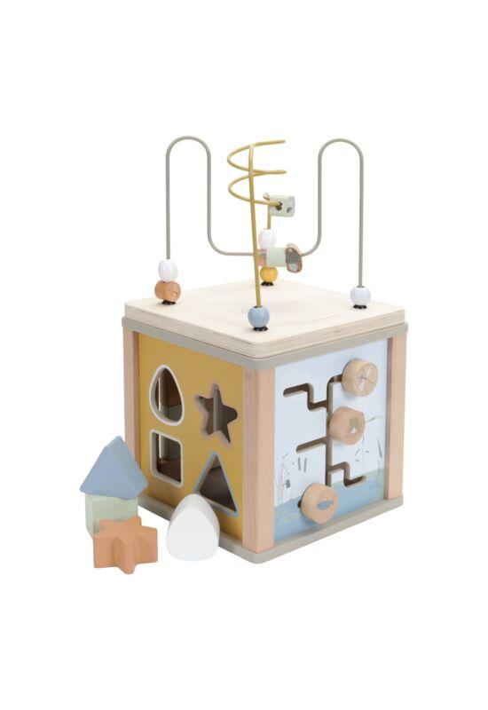 Little Dutch készségfejlesztő fa kocka játék - olivazöld