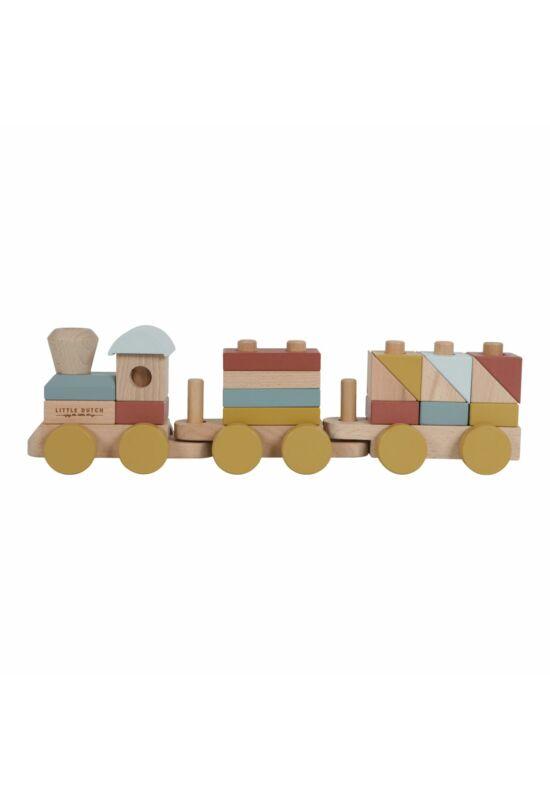 Little Dutch építhető fa vonat - pure&nature