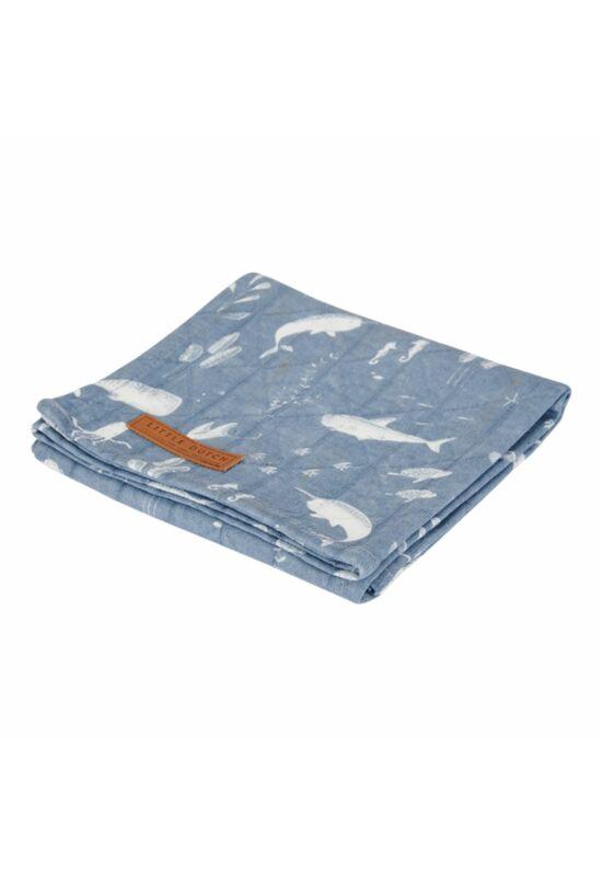 Little Dutch textilpelenka 120x120 - kék óceán