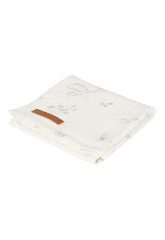 Little Dutch textilpelenka 120x120 - fehér óceán