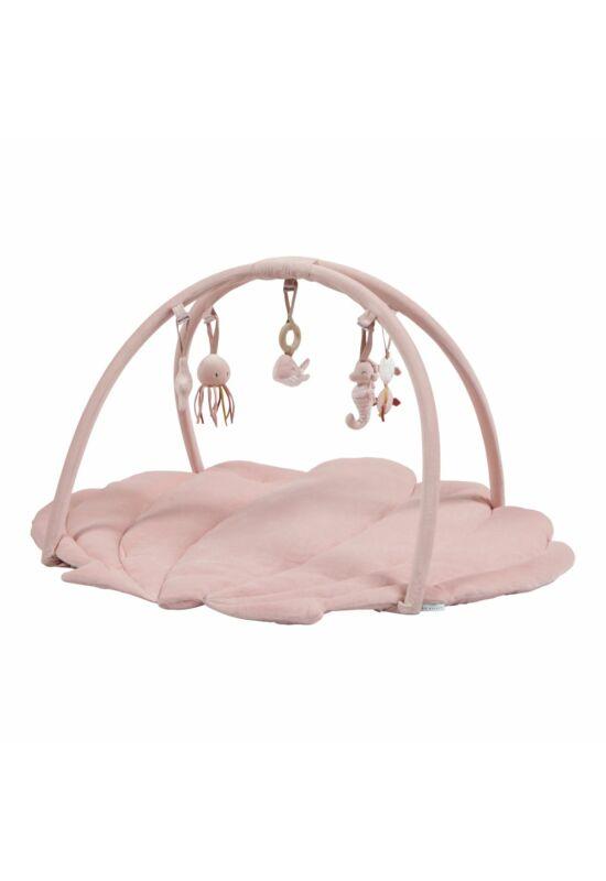 Little Dutch baba játszószőnyeg, játékhíddal - pink