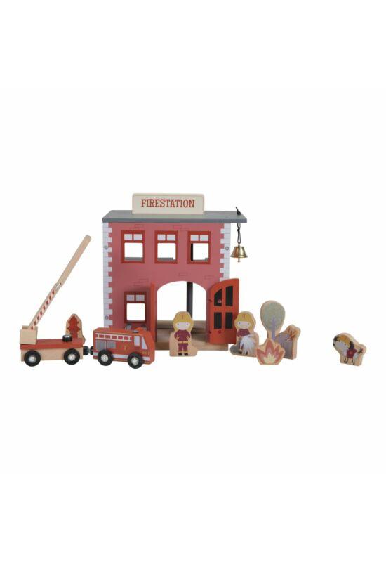 Little Dutch fa vasút kiegészítő - tűzoltóállomás