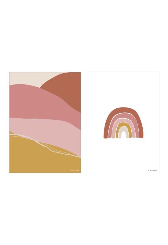 Little Dutch poszter - szivárvány, pink