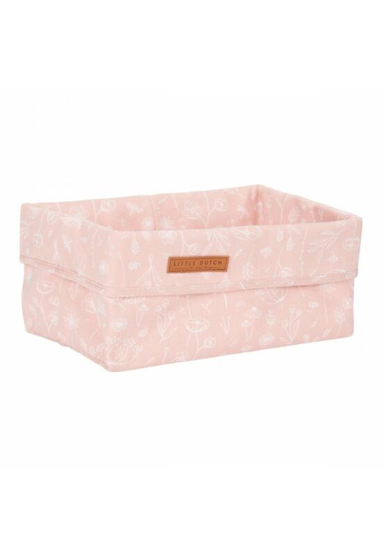 Little Dutch tároló doboz (25x15cm) - vadvirágok, pink