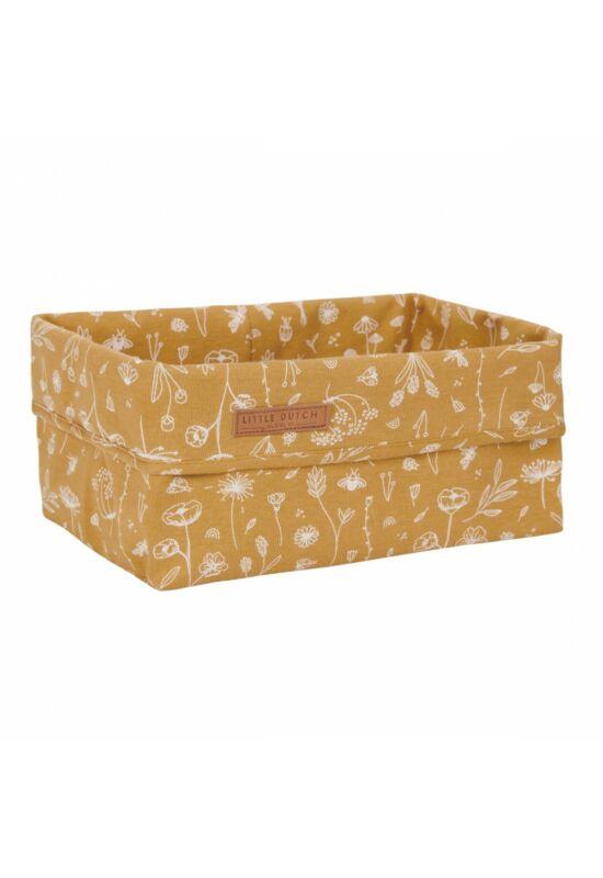 Little Dutch tároló doboz (25x15cm) - vadvirágok, okker