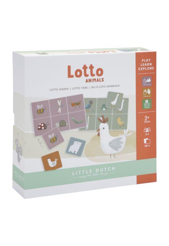 Little Dutch karton - állatos lottó játék