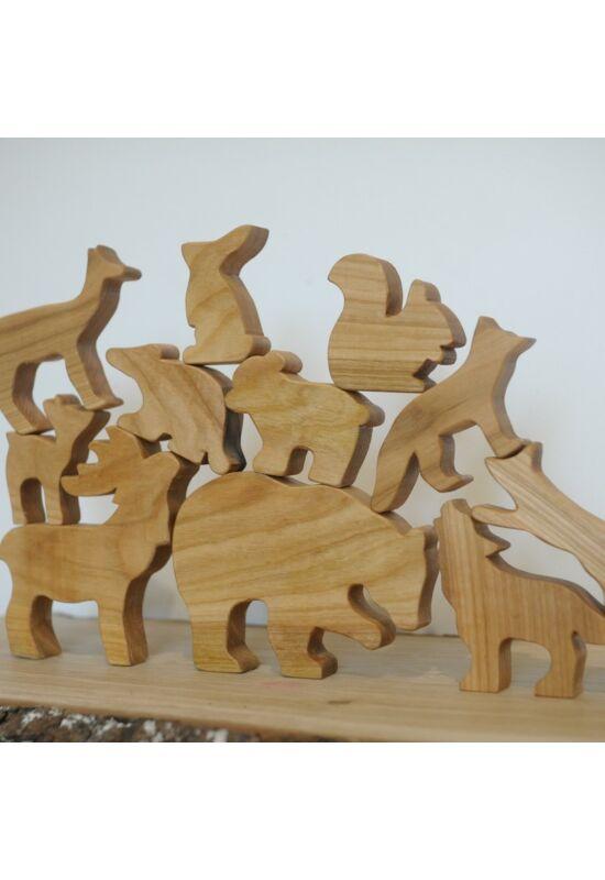 MM Woodworks fa erdei állat csomag