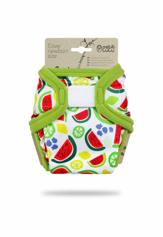 Petit Lulu újszülött mosható pelenka külső - Melons (2-6 kg)