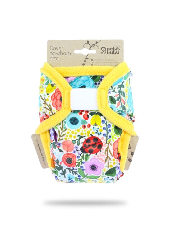Petit Lulu újszülött mosható pelenka külső - Blooming garden (2-6 kg)