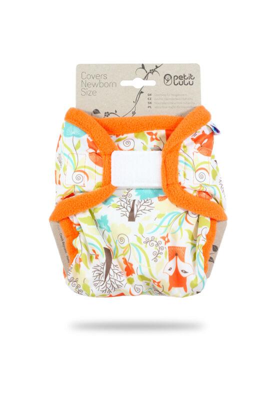 Petit Lulu újszülött mosható pelenka külső - Foxes (2-6 kg)