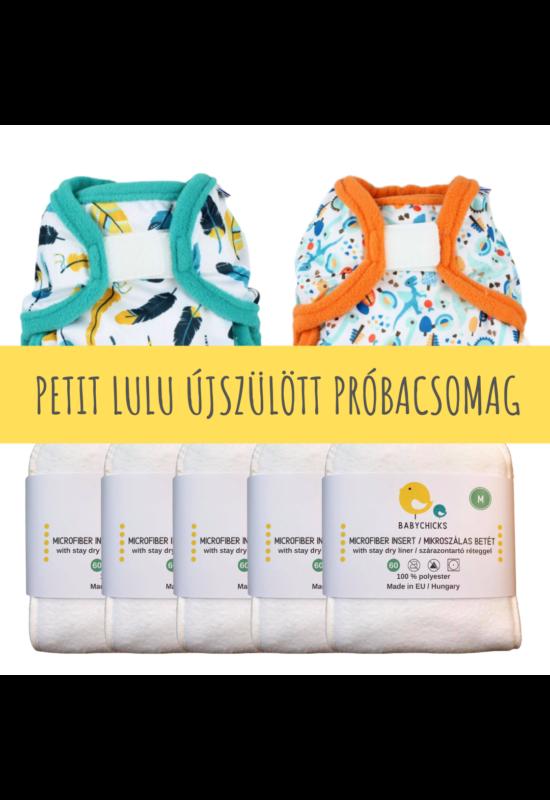 Újszülött mosható pelenka próbacsomag - Petit Lulu