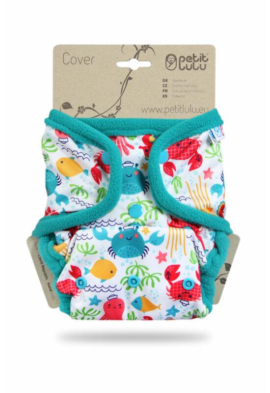 Petit Lulu egyméretes mosható pelenka külső - Lagoon (4-15 kg)