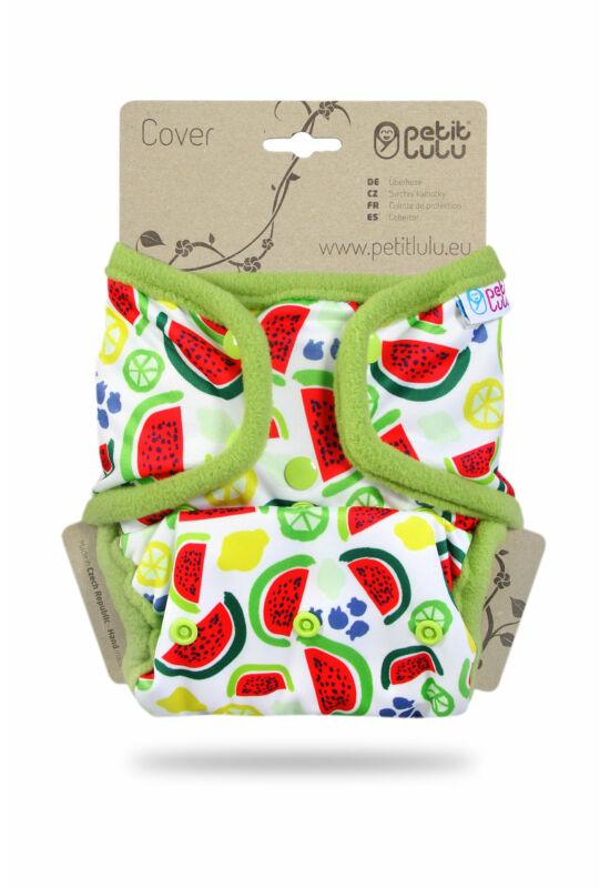 Petit Lulu egyméretes mosható pelenka külső - Melons (4-15 kg)