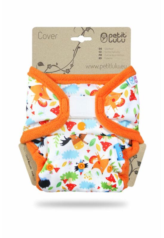 Petit Lulu egyméretes mosható pelenka külső - Crazy Animals (4-15 kg)