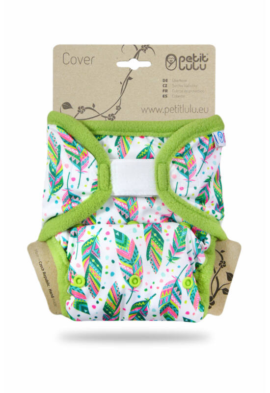 """Petit Lulu """"Prefold"""" egyméretes mosható pelenka külső - Indian Summer (4-15 kg)"""