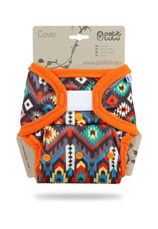 Petit Lulu egyméretes mosható pelenka külső - Etno (4-15 kg)