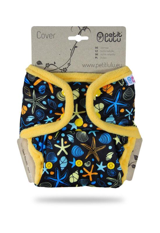 Petit Lulu egyméretes mosható pelenka külső - Ocean terasures (4-15 kg)
