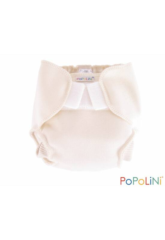 Popolini szűz gyapjú mosható pelenka külső (M)