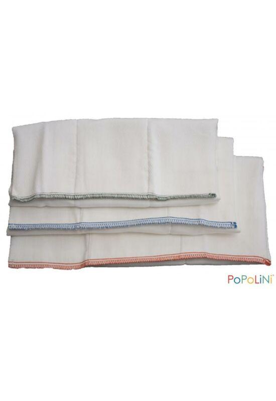 Popolini mosható pamut prefold pelenka - L
