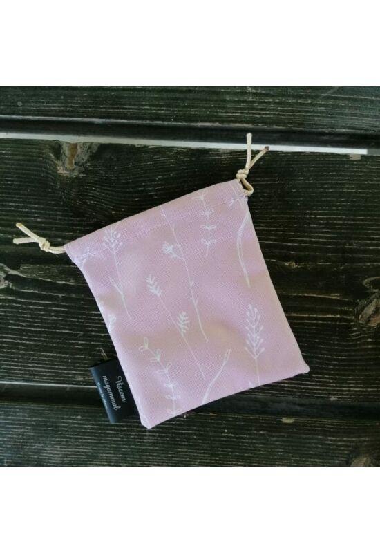 Viszem magammal vízálló miniszütyő (cumitartó) - Pink botanika