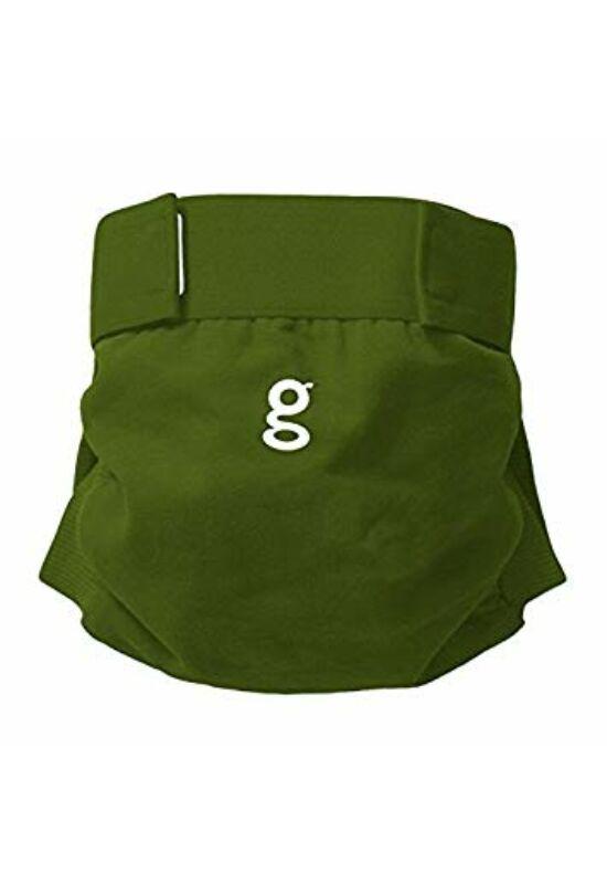 gDiapers mosható pelenka külső 1 db csónakkal - Galoshes Green (M)